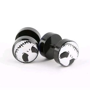 Jack Skellington Stud Earrings Nightmare Halloween